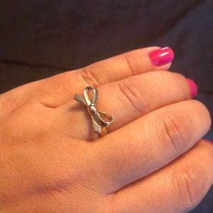 Kate Spade signature bow gold plated ring